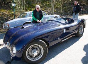 En Jaguar C-type replica dukket opp på Vårmønstringen i 2012.