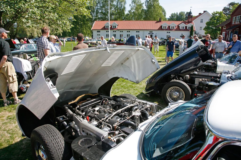 Sommermøtet i Norsk Jaguar KLubb samler medlemmene til bilopplevelser og årets generalforsamling. Her fra sommermøtet på Torbjørnrud i 2012.