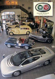 Jaguar Daimler Heritage Museum på Browns Lane, Coventry i 2002. Nå er dette flotte muséet borte.
