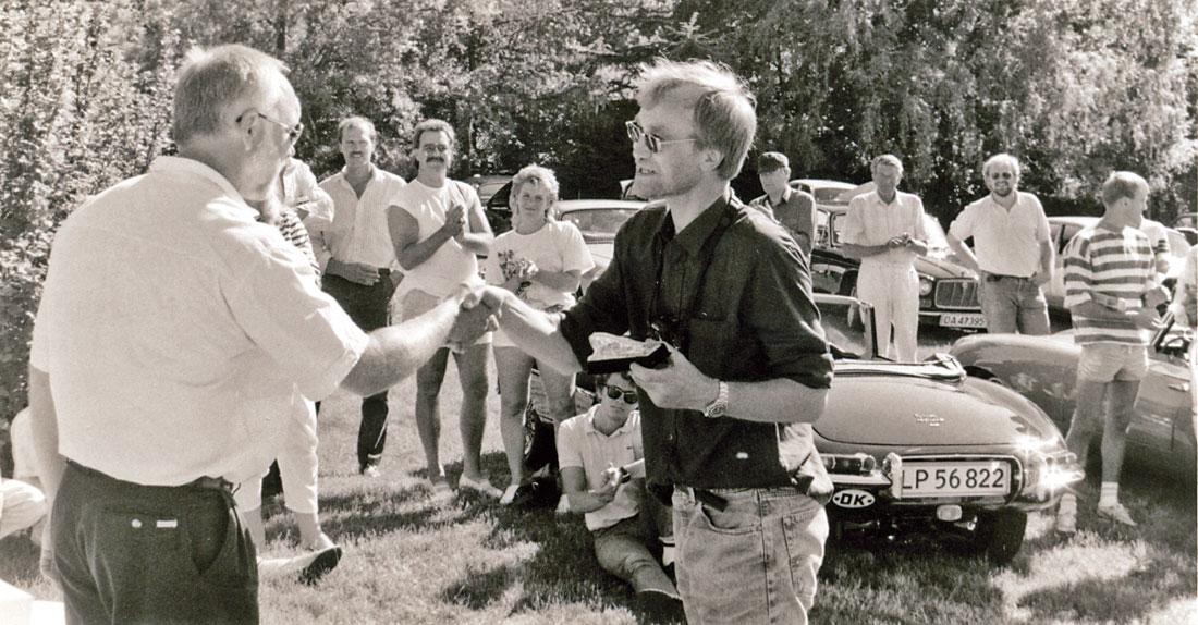 Utenlandske gjester beæret oss med besøk på 10-års jubileet, her den danske redaktør Niels Due Abrahamsen.