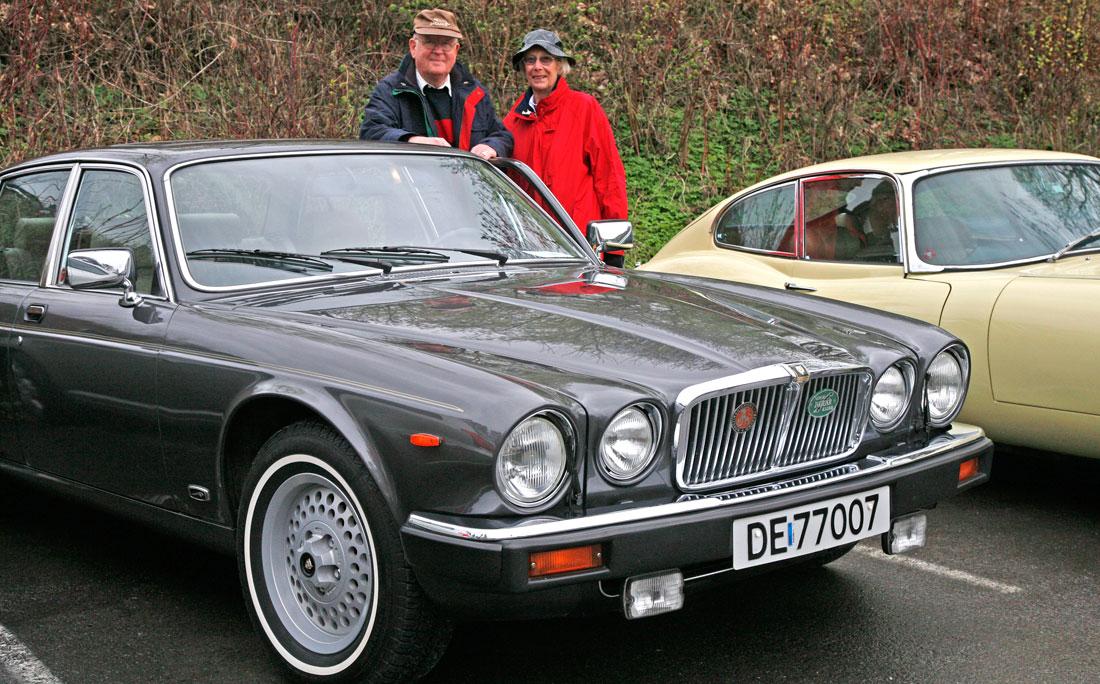 Jaguar XJ6 Serie 3, et meget velholdt eksemplar på Vårmønstringen 2008.