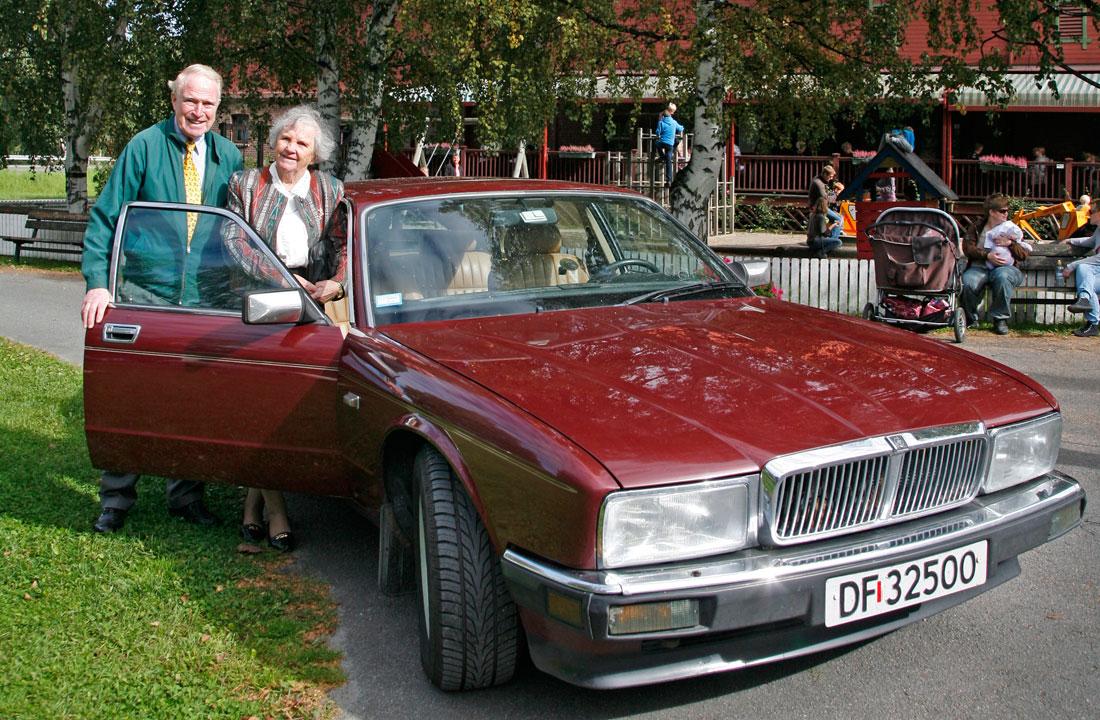 Jaguar XJ40 – her fra en tur i klubbens regi til Hadeland Glassverk.